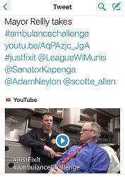 Mayor Reilly ambulance challenge